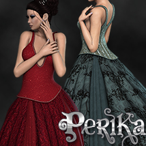 2P3D_3DS Perika Dress 3D Figure Assets 3DSublimeProductions