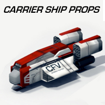 CarrierShipProps Transportation Props/Scenes/Architecture Themed shawnaloroc