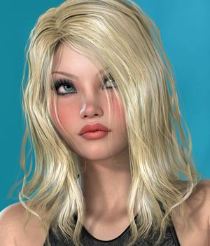 Ciara Hair for V4 and G2 3D Figure Assets SWAM