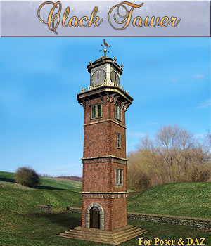 Old Clock Tower Props/Scenes/Architecture Software Themed Simon-3D