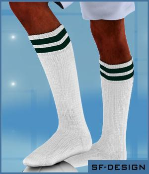 Sport and Soccer Socks Texture Add On for CJS Sock Pack 1 for Genesis 3D Figure Essentials SF-Design