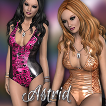 NYC Couture: Astrid 3D Figure Essentials 3DSublimeProductions