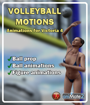 V4 Volleyball Motions 3D Figure Essentials ka06059