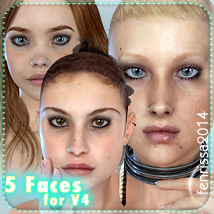 Fenrissa's Faces_01 3D Figure Essentials _Fenrissa_