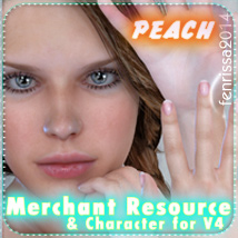 Merchant Resource - Peach - for V4.2, Aiko 4, Genesis and more 2D 3D Figure Essentials _Fenrissa_
