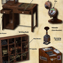Steampunk Office image 2
