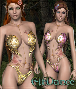 ElfDance for Shiloh Fantasykini 3D Figure Essentials 3D Models Anagord