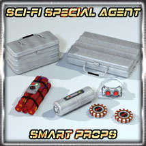 SciFi Smartprops 2 - Special Agent 3D Figure Essentials 3D Models 3-d-c