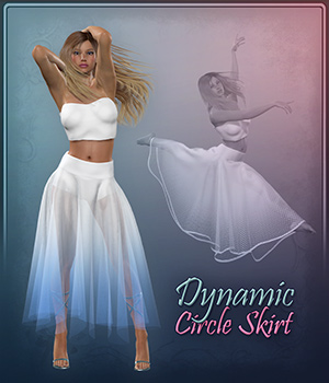 Dynamic Circle Skirt 3D Figure Assets Frequency