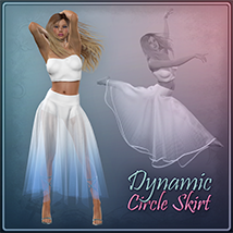 Dynamic Circle Skirt Clothing Frequency