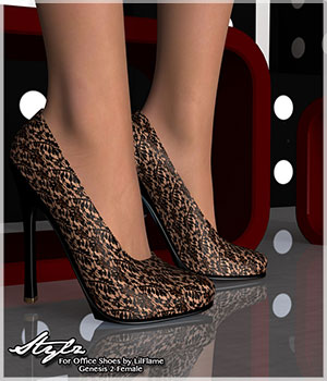 Stylz for Office Shoes - Genesis 2 Female 3D Figure Essentials Artemis