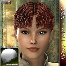 Wavy Hair - MSC 3D Figure Essentials 3Dream