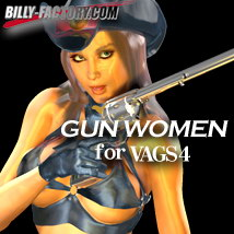 V4 Gun Woman 3D Figure Assets billy-t