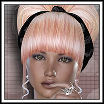 Color me Begonia Hair 2P3D