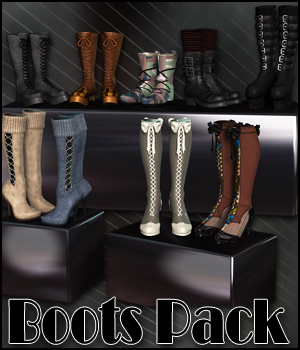 RPublishing's Boots Collection 3D Figure Assets RPublishing
