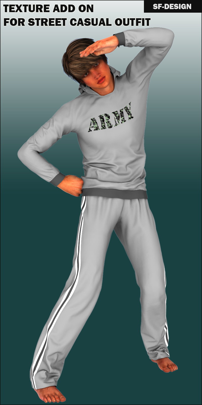 Texture Add-On for Street Casual Outfit for Genesis 2 Male(s)