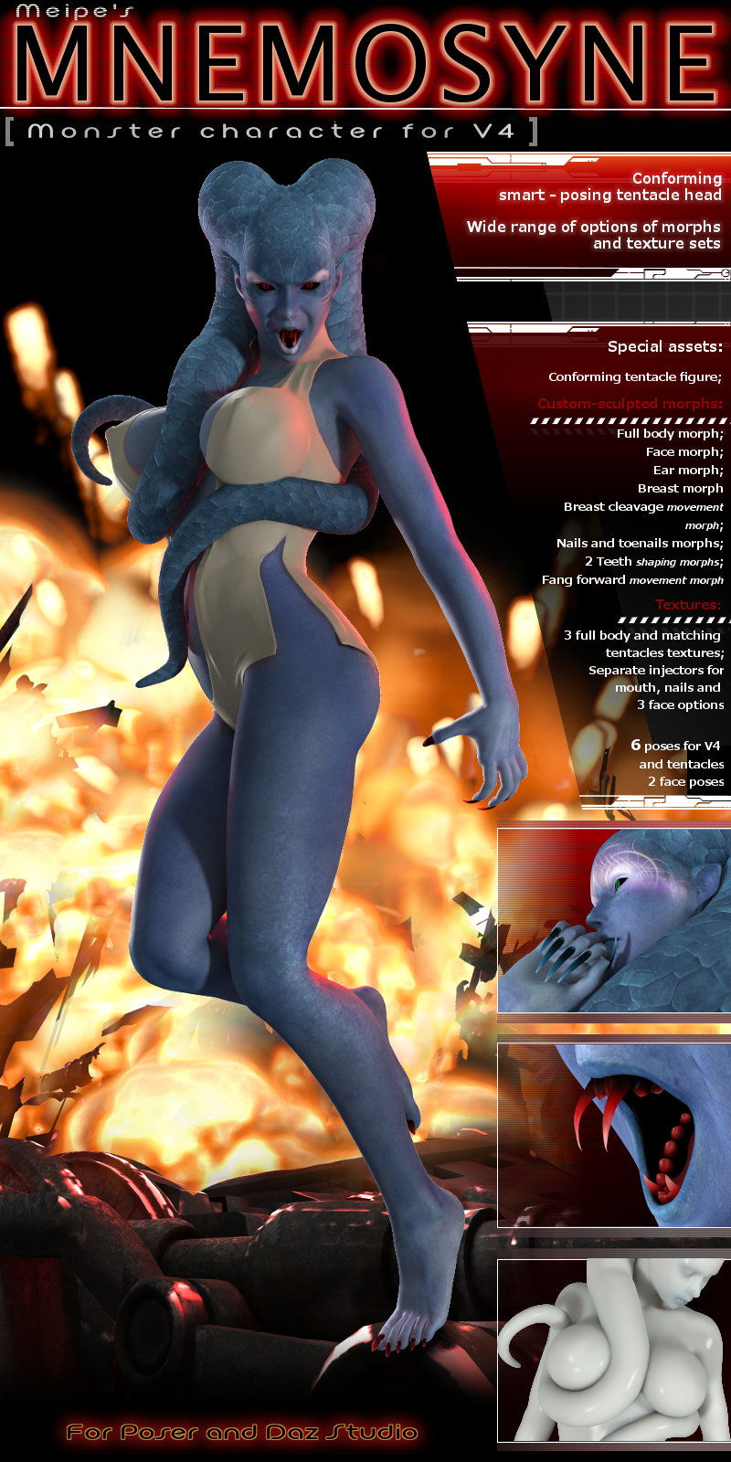 Mnemosyne - Alien character for V4 by meipe