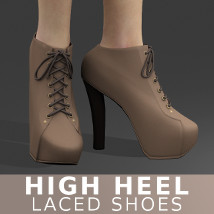 High Heel Laced Shoes Footwear Themed TruForm