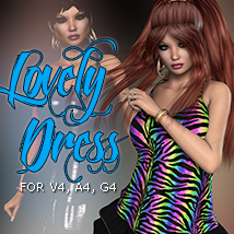 2P3D_3DS Lovely Dress Clothing 3DSublimeProductions