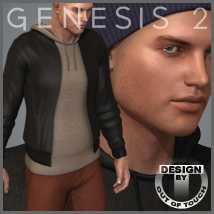 Downtown Streetwear for Michael 6 - Genesis 2 Male(s) 3D Figure Essentials 3D Models outoftouch