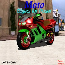 Moto for Poser 3D Models JeffersonAF