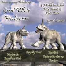 Great White Freeloaver Animals Stand Alone Figures Software Themed steve100