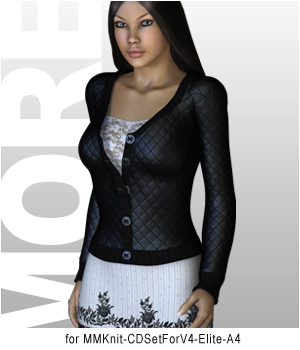 MORE Textures & Styles for MMKnit CDSet 3D Figure Essentials 3D Models motif