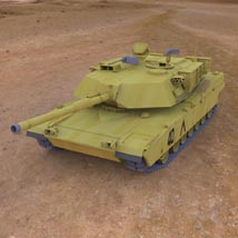 M1A1 Abrams (for 3D Studio Max) Themed Digimation_ModelBank