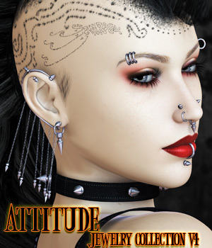 Attitude - Jewelry Collection V4 3D Figure Assets kaleya