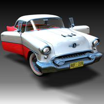 OLDSMOBILE SUPER 88 1955 3D Models Ourias3D