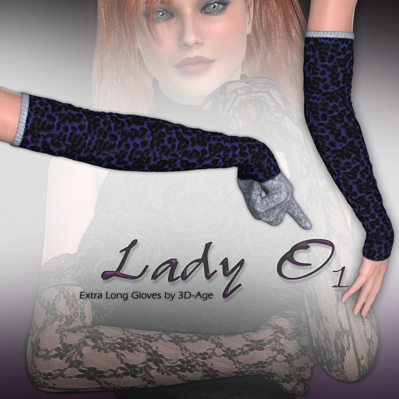 Lady O_1 - Extra Long Gloves