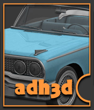 1963 Ford Galaxy 3D Models adh3d