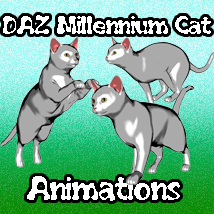 Daz Millennium Cat Motions 3D Figure Essentials ka06059