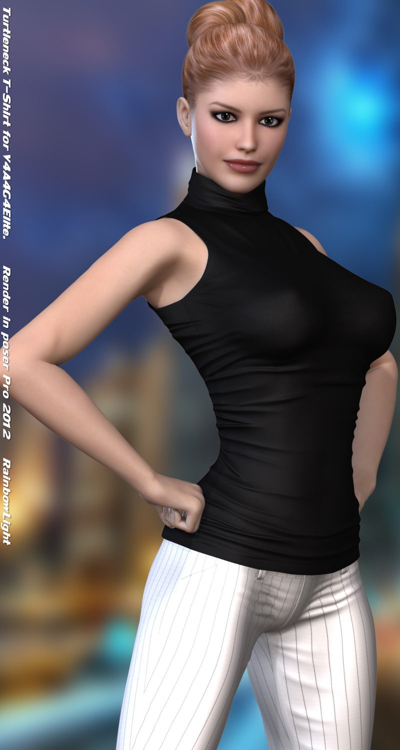 Turtleneck t shirt for v4a4g4elite 3d figure assets for Turtleneck under t shirt
