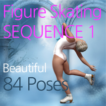 Figure Skating SEQUENCE 1 3D Figure Assets lanslot