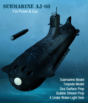 Submarine AJ08 Props/Scenes/Architecture Themed Transportation Simon-3D