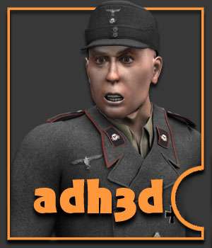 WW2 Panzer Unit 3D Figure Assets 3D Models adh3d
