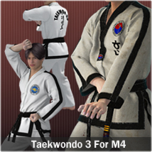 Taekwondo Suit 3 for M4 3D Figure Essentials zollacce