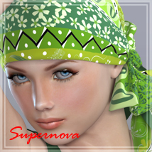 70s headscarf 3D Figure Assets -supernova-
