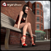 Edo Fashion - Night Dress 3D Figure Assets 3D Models mytilus