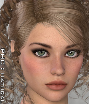 PHCNatural : Riva Updo 3D Figure Essentials P3D-Art