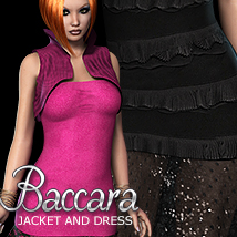 2P3D3DS Baccara Jacket & Dress 3D Figure Assets 3DSublimeProductions