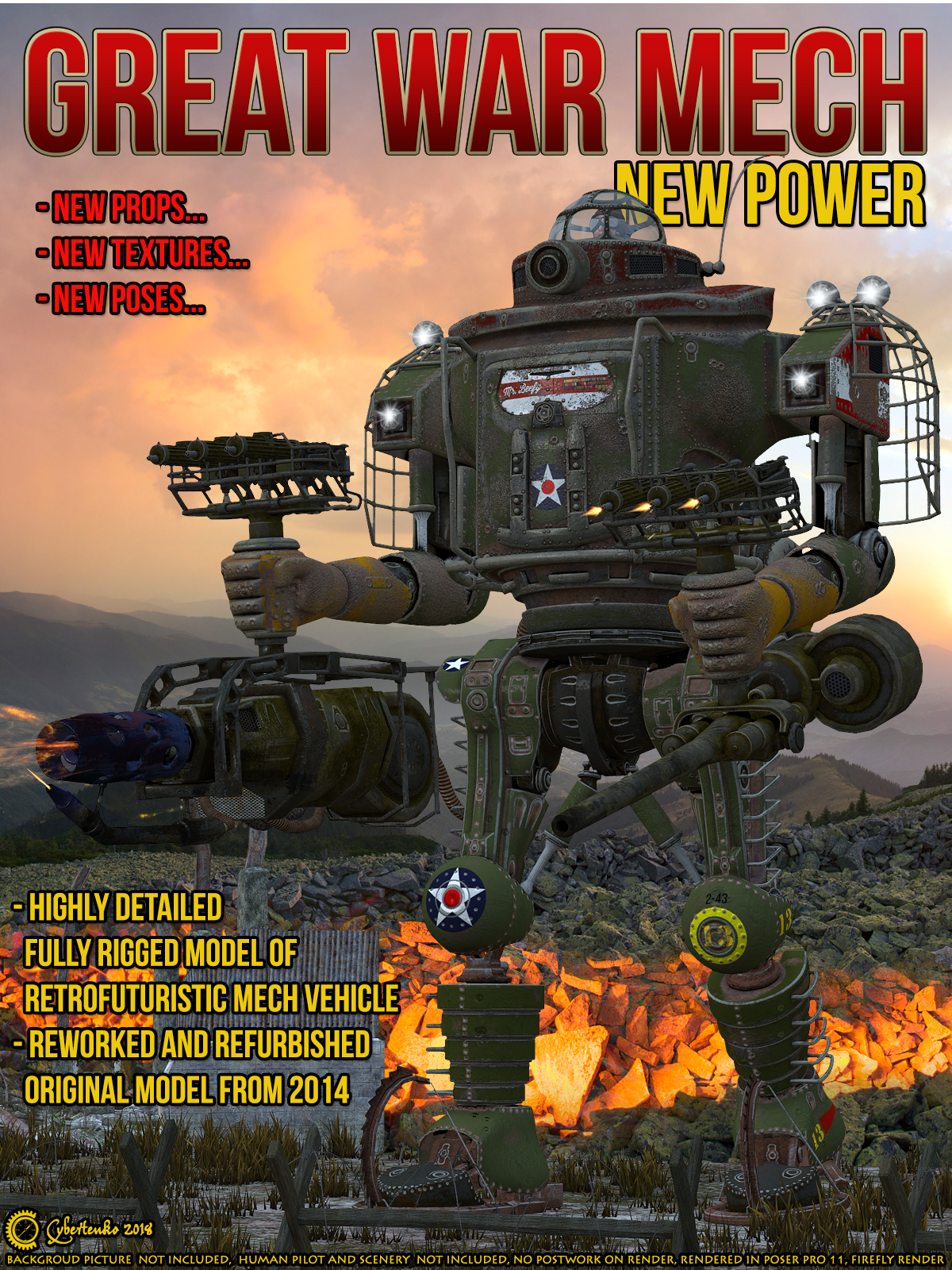 Great War Mech - New Power  by Cybertenko