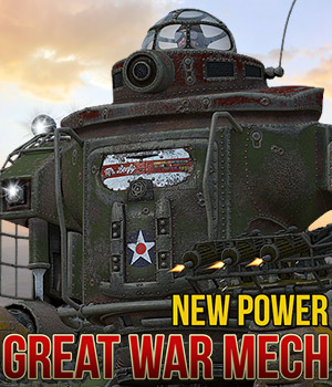 Great War Mech Themed Props/Scenes/Architecture Transportation Cybertenko
