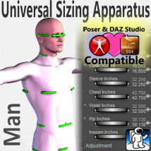 Universal Sizing Apparatus/Man  3D Figure Essentials Rocketship3D