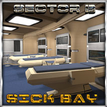 Ship Elements B4: Sick Bay Props/Scenes/Architecture Software Themed 3-d-c