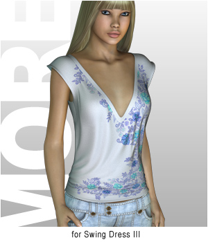 MORE Textures & Styles for Swing Dress III 3D Figure Essentials 3D Models motif
