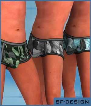 Texture Add On for DZ UnderGear Set 2 for Genesis 3D Figure Assets 3D Models SF-Design