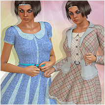 Spring Flirt for MMGirly 3D Figure Assets Atenais
