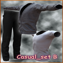 Casual set B Clothing 2D And/Or Merchant Resources kang1hyun